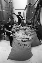 The Mac's Crew with hops for the last Brewjolais
